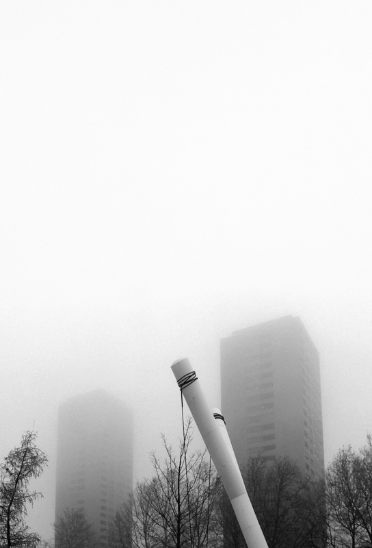 foggy towers